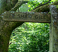 sign post for shaw ghyll
